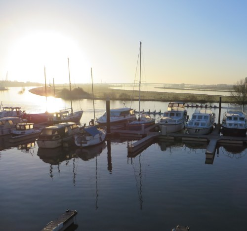 Harbour on a winter morning